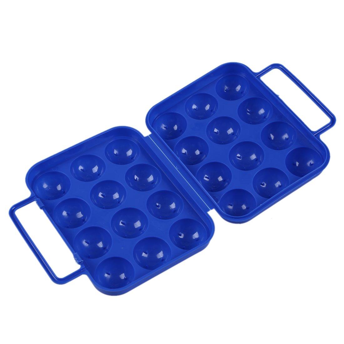 Contenitori In Plastica Pieghevoli.Sodial R Blu Uova Di Plastica Pieghevoli Portare Il Contenitore Di