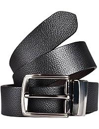 Kesari Men's Leather Reversible Belt (Black Brown)