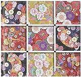 Toyo Origami Wafu Chiyogami-, kyou-yuzen 15cm x 15cm, 4Mustern X 7Blatt (010602)