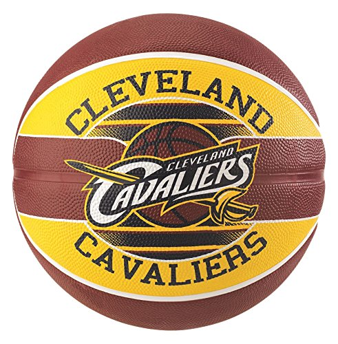 Spalding NBA Team Cleveland Cavs 83-584Z Balón de Baloncesto, Unisex, Multicolor, 5