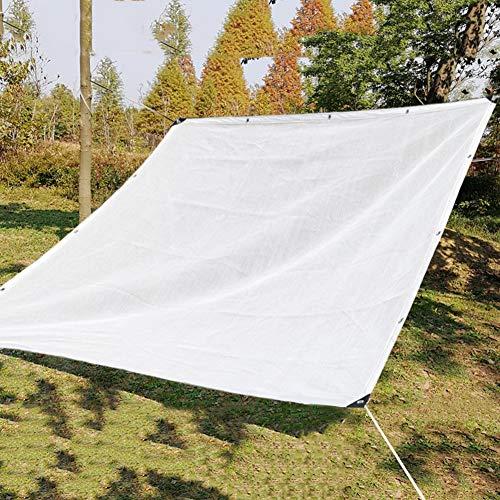 HYDT Schattennetz Weiß 80% Schatten-Netz für Blumen/Pflanzen/Patio/Rasen/Auto-Abdeckung im Freien, UV-beständiges Schatten-Tuch mit Gummitülle (Size : 3×3m) (Auto-sitz-schatten-abdeckung)