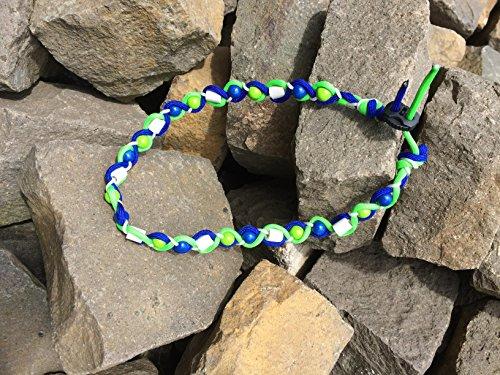 Preisvergleich Produktbild designed by KnaulY EM-Keramik Kette/Zeckenschut für Hunde gegen Zecken Größe entscheiden Sie blau/grün