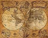 Upstudio Retro Ozean Tuch Poster Globe Alte Welt Seekarte Geschenke Malerei Home Decor Antique Poster