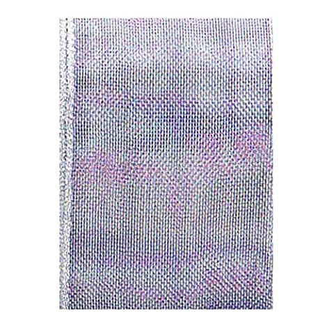 The Gift Wrap Company Wired Edge Sheer Ribbon, Silver