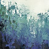 Artland Qualitätsbilder I Bild auf Leinwand Leinwandbilder Wandbilder 60 x 60 cm Abstrakte Motive Gegenstandslos Spachteltechnik Türkis C2OP Seehöhlen I