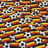 Stoff Baumwolle Jersey Meterware Fussball EM WM Bundeliga Deutschland Europameister