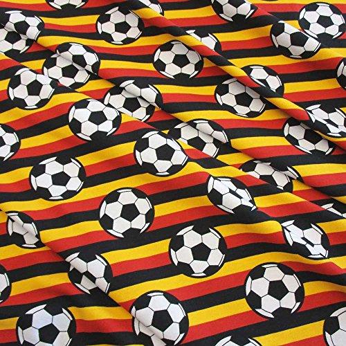 Werthers Stoffe Stoff Baumwolle Jersey Meterware Fussball EM WM Bundeliga Deutschland Europameister -