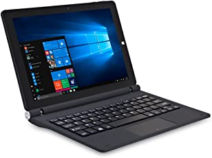 iOTA ONE 25,65cm (10,1 Zoll Full HD) 2-in-1 Detachable Notebook (Intel Atom Z8350, 2 GB RAM, 32 GB Speicher, Touchscreen, Deutsche Tastatur, Windows 10) schwarz