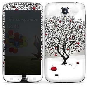 Samsung Galaxy S4 Case Skin Sticker aus Vinyl-Folie Aufkleber Winter Schnee Baum