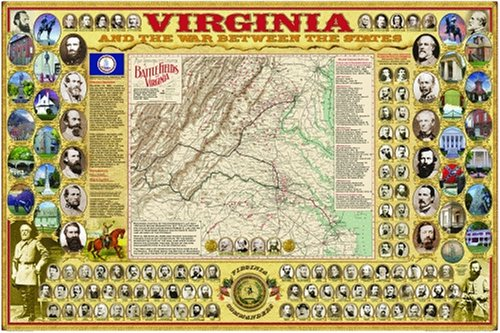 Virginia and the War Between the States Poster (Civil War State Map Posters)