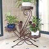 KELE Iron Flower Pot Stands, Multi-Layer Blumen Rack Balkon Indoor Outdoor Garten Metall Das pflanzenregal Töpfe Display-ständer-B