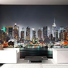 murando® Fotomural 350x245 cm - 3 tres colores a elegir - Papel tejido-no tejido. Fotomurales - Papel pintado - Ciudad New York d-B-0034-a-c