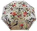 Sun Brand Butterfly Series 4- Automatic Open 3 Fold Umbrella