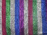 Minerva Crafts Neuheit Stripe Crinkle Lame Metallic Stoff