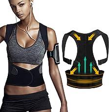 Tencoz Haltungstrainer, Geradehalter zur Haltungskorrektur für Eine Bessere Körperhaltung und Unterstützung des Rückens - Gegen Nacken -und Schulterschmerzen für Damen und Herren
