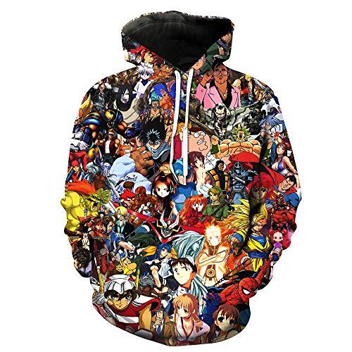ZXTXGG Herren/Frauen 3D Hoodies Japan Anime Zeichen Komplettes Set Saint Seiya Football Team Uniform Muster Digitaldruck Kapuzenpullis Liebhaber Kapuzenpullis(S,Bunt) Atlanta Falcons Uniform