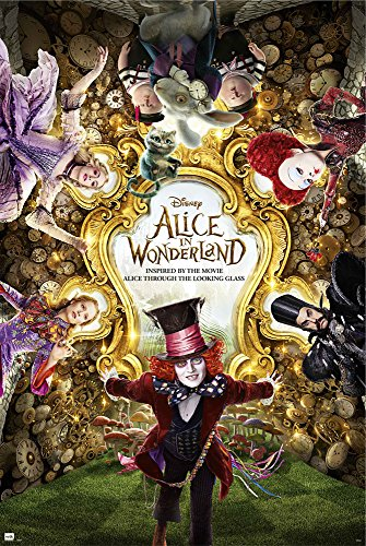 empireposter 738134 Alice nel Paese delle Meraviglie - One Sheet - Poster cinematografico Alice in Wonderland Johnny Depp, Carta, Multicolore, 61 x 91,5 cm 91,5 x 61 x 0,14 cm