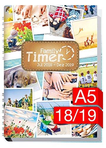 Family-Timer 2018/2019 - Der Familien-Planer! 18 Monate Juli 2018-Dezember 2019, Familienkalender