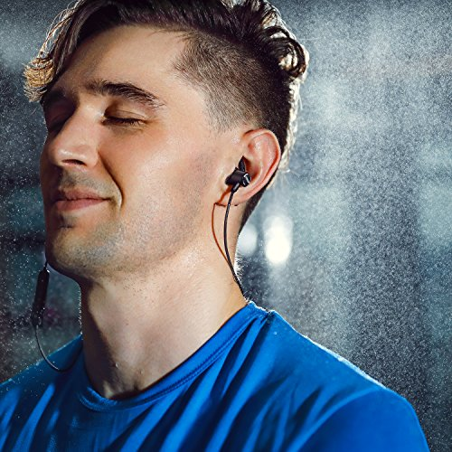 Bluetooth Headphones, Anker Wireless Headphones, Bluetooth 4.1 Magnetic Wireless Stereo Soundbuds with Slim Lightweight, Waterproof Sport Headset with Mic, works with iPhone, iPad, Samsung, Nexus, HTC, Echo, and More