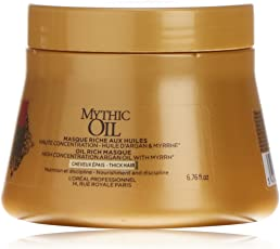 L'Oreal professional Black Casurina Mythic Oil Masque For Thick Hair - 200Ml