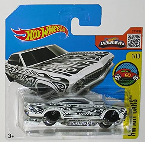 '65 CHEVY IMPALA Hot Wheels 2016 HW Art Cars Series White Impala 1:64 Scale Collectible Die Cast Metal Toy Car Model #1/10 on International Short Card
