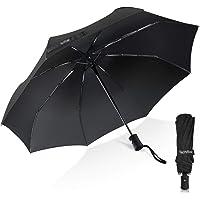 Umbrella, TechRise Classic Windproof Automatic Folding Compact Travel Umbrella One Button Auto Open and Close - Black