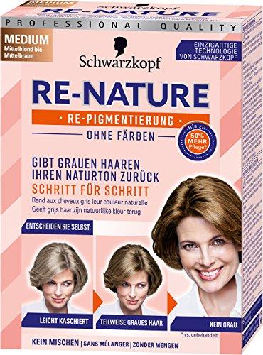 Schwarzkopf Re-Nature Re-Pigmentierung, Frauen Medium Stufe 0, 1er Pack (1 x 145 ml) (Medium Blonde Haare Färben)