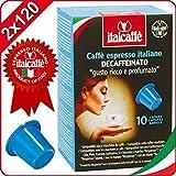 Italcaffè Espresso Entkoffeiniert Nespresso kompatible Kaffeekapseln