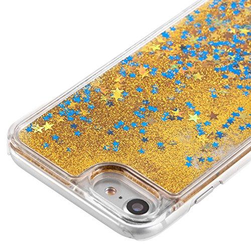 Paillette Coque pour iPhone 7 Plus,iPhone 7 Plus Coque Transparente,iPhone 7 Plus Coque Crystal,iPhone 7 Plus Dual Layer Plastic Liquide Coque Bling Flash Etui Plastic Case Cover pour iPhone 7 Plus 5. K Star 4