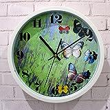 WERLM Personalisiertes Design Home dekorative Wanduhr kunst Uhr Kunststoff Wanduhr retro Wohnzimmer so das alte Holz Uhr mit dem Home Office Küche Schulen sind ideal für jedes Zimmer, 12-Zoll