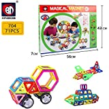Powerpak Xinbida Magical Magnet-71pcs Magnetic Building Blocks 3D Puzzle Learning Toy For Kids (No.704)
