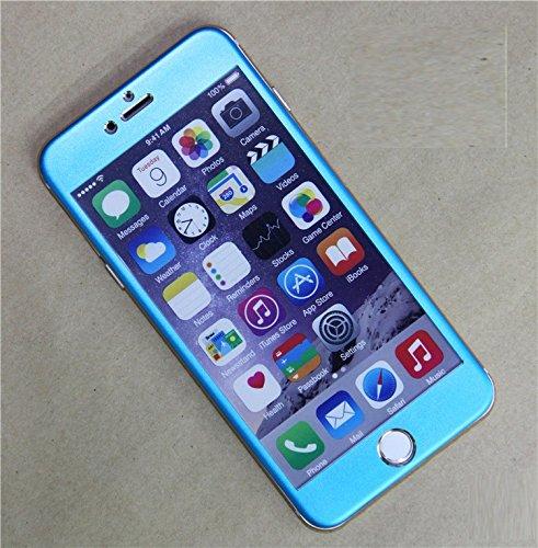 InShang Apple Iphone6 6S (4.7 inch) Pellicola protettiva vetro temperato,Super resistente agli urti,ultra-trasparente film protezione dello schermo di alta sensibilità,Full Screen 3D curve 100% fit +T light blue