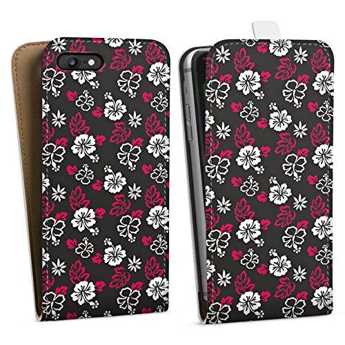 Apple iPhone X Silikon Hülle Case Schutzhülle Blumen Muster Flower Downflip Tasche weiß