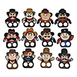 cama24com Cowboy Fingerpuppen aus Pappe 12 Stück Wilder Westen Mitgebsel Gastgeschenke Palandi®