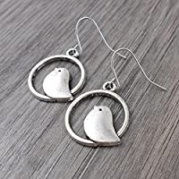 Minimal Bird Earrings with Sterling Silver earwires