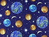 Dekostoff Weltraum, dunkelblau, Meterware ab 0,5 m