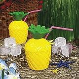 cama24com Ananas Trinkflasche Becher für Beachparty 12 Stück Hawaii Aloha Party Deko Palandi®