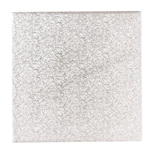 Culpitt carré pour gâteau/Tambour 13 mm d'épaisseur, Argent, 15\