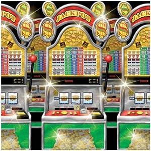 amscan Máquinas de Pared Decoración en Casino (1,20 x 12,20 m)