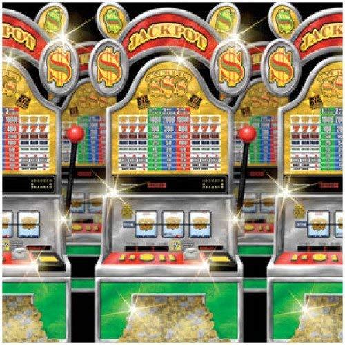 amscan International Rouleau Setter Scène Casino Machine à sous