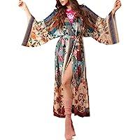 SIEBENEINSY Copricostume da Bagno Boho Beach da Donna Pareo Kimono Cardigan Vestaglia Camicetta Lunga Bikini Cape…