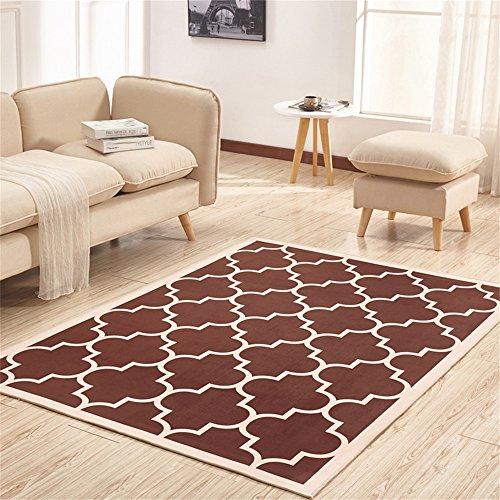 Preisvergleich Produktbild LH-RUG Hochwertige Super Soft Decke Modern Modern Rechtwinklig Teppich Wohnzimmer Sofa Couchtisch Eingangshalle Schlafzimmer Nachttisch Teppich Braun Nordic Designer Anti-Rutsch- Nicht reizende ( größe : 1.4*2M )