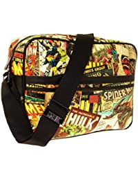 Marvel  Retro Messenger Bag All Over Print Graphic, Herren Schultertasche