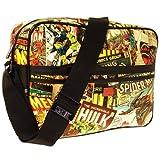 Marvel Herren Retro Messenger Bag All Over Print Graphic Tasche, Vintage Multi, One Size