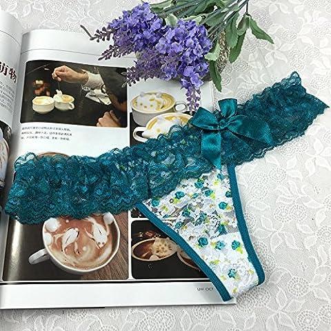YUPN Sra ropa interior Interés thonglow transparente ropa interior de la cintura Panty bikini bragas,verde onesize