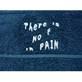 Bana Kuru Sports Gym/Sweat Towel Navy - NO F IN PAIN Embroidered, 500gsm, 100% Cotton