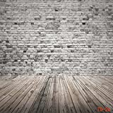 CapiSco Fotohintergrund Fotografie Stoffhintergrund Stoff Hintergrund Fotostudio Ziegelwand Boden 3 * 3m TD26