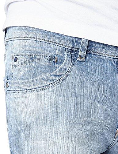 Pioneer Herren Straight Leg Jeans STORM Blau (bleachused 183)