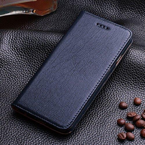 iPhone 6+ / 6S+ Cuir véritable Étui,EVERGREENBUYING - Terrapin Étui Housse en Cuir IP6+ / IP6S+ Premium Etui de Protection Case Cover pour iPhone 6 Plus / 6s Plus 5.5 inch Saphir Saphir