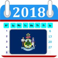 Maine Calendar 2018 Holiday